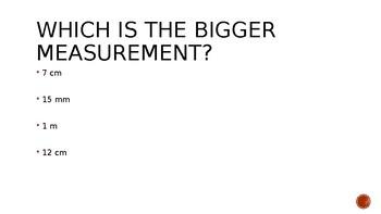Grade 3 Measurement Review Game