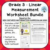 Grade 3 Measurement Unit Worksheet Bundle - ONTARIO MATHEM