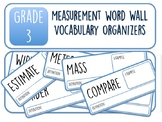 Grade 3 Measurement Word Wall Vocabulary Organizers
