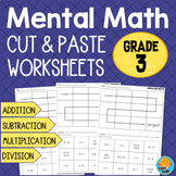 Grade 3 Mental Math Worksheets - Addition Subtraction Multiplication Division