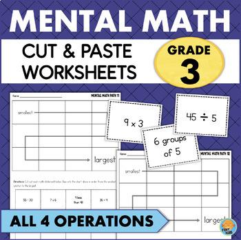 Grade 3 Mental Math Worksheets Addition Subtraction Multiplication Division