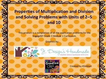 Grade 3 Module 1 Application Problem Task Cards