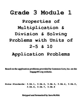 Grade 3 Module 1 Application Problems
