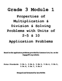 Grade 3 Module 1 Application Problems