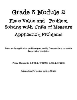 Grade 3 Module 2 Application Problems