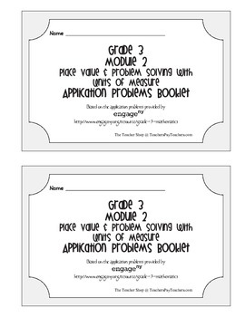 Grade 3 Math Module 2 Application Problems Booklet