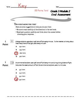 Grade 3 Module 2 End Assessment