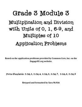 Grade 3 Module 3 Application Problems