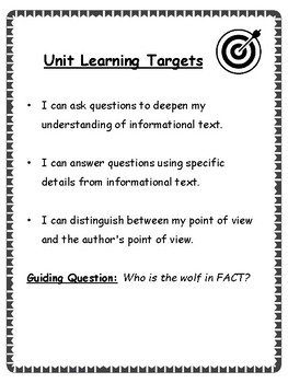 Grade 3 Module 3b Unit 2: Wolves in Fact