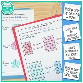 Engage New York Math Aligned No Cut Interactive Notebook: Grade 3, Module 4
