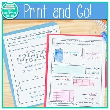 Engage New York Math Aligned No Cut Interactive Notebook Grade 3 Module 4