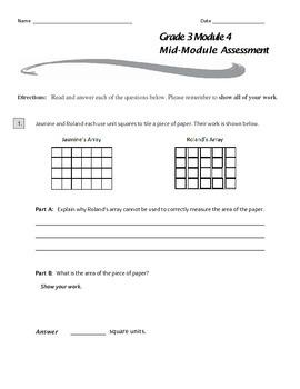 Grade 3 Module 4 Mid-Module Assessment