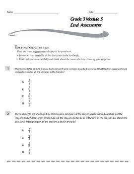 Grade 3 Module 5 End-Module Assessment