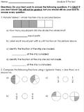 Grade 3 Module 5 Fractions Pretest