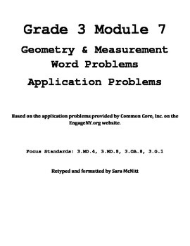 Grade 3 Module 7 Application Problems