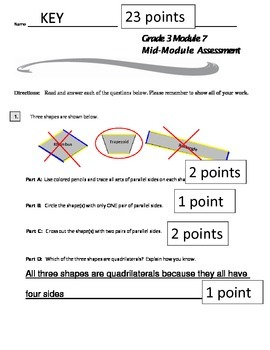 Grade 3 Module 7 Mid-Module Assessment