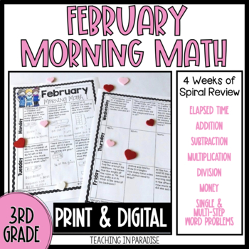 Grade 3 Morning Math Review: February