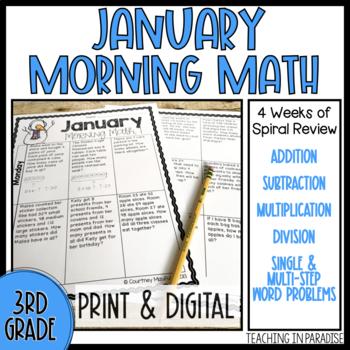 Grade 3 Morning Math Review: January