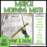Grade 3 Morning Math Review: March (Print & Digital)