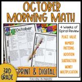 Grade 3 Morning Math Review: October