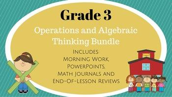 Grade 3: Morning Work, PowerPoints, Math Journals Bundle (