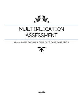 Grade 3 Multiplication Assessment