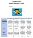 Grade 3 Number:  Multiplication & Division Assessment - 2020 Ontario Math