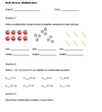 Grade 3 Multiplication Test Review - companion to multiplication test