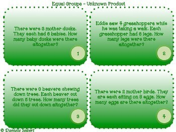 Grade 3 - Multiplication and Division Word Problems - Task Cards