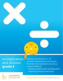 Grade 3 Multiplication and Division Workbook: Making Math Visual bundle