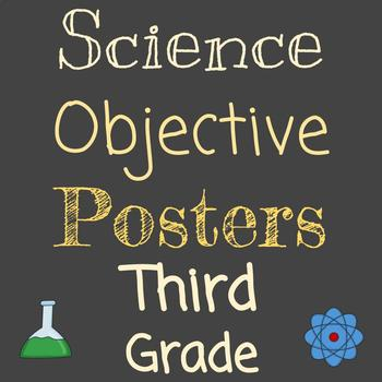 Objective Posters | Grade 3 Science | Entire Year