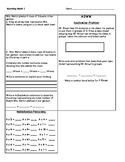 Grade 3 NY Engage/Eureka Math Module 1 Morning Work/ Assignment Bundle