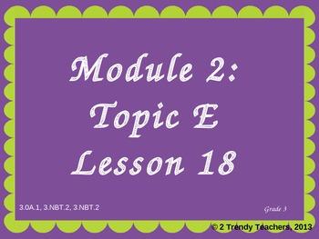 Grade 3 NYS Math Module 2: Lesson 18 Power Point