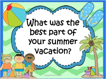 Grade 3 Narrative Writing Unit Week 1 Summer Vacation