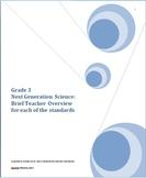 Grade 3 Next Generation Science:  Brief Teacher Overview o