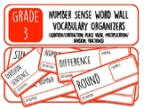 Grade 3 Number Sense Word Wall Vocabulary Organizers