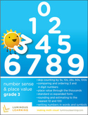 Grade 3 Number Sense and Place Value Workbook: Making Math Visual