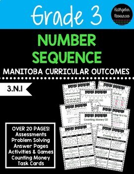 Grade 3 Number Sequence (Manitoba Canada Outcomes)