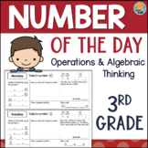 Grade 3 Number of the Day - Daily Math - Operations & Algebraic Thinking