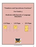 """Grade 3 """"Fractions and the Art of Serving Pizza"""" w/ Speech & Language Disorders"""