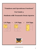 """Grade 3 """"Fractions and the Art of Serving Pizza"""" w/ Traumatic Brain Injuries"""