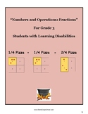 """Grade 3 """"Fractions and the Art of Serving Pizza""""  w/ Learning Disabilities"""