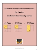 """Grade 3 """"Fractions and the Art of Serving Pizza"""" for Students w/ Autism Spectrum"""