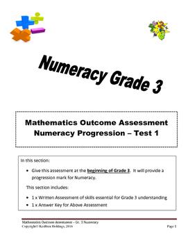 Grade 3 - Numeracy Progression Assessment