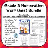 Grade 3 Numeration Unit Worksheet Bundle ONTARIO MATHEMATI