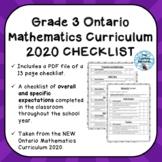 Grade 3 ONTARIO MATHEMATICS CURRICULUM 2020 EXPECTATIONS C
