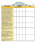 Grade 3 ONTARIO Reading Expectations Checklist