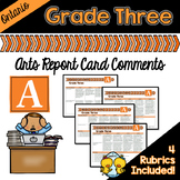 Grade 3 Ontario Arts Report Card Comments