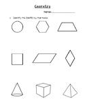 Grade 3 Ontario Geometry Test