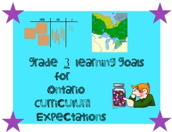 Grade 3 Ontario Learning Goals